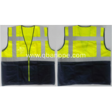 Two-tone safety vest high visibility with pockets